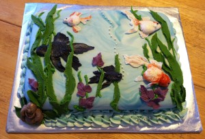 Custom Fish Aquarium Cake